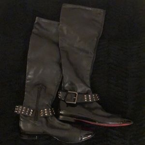 Boots (black) w/ studs and buckle (size 8M)